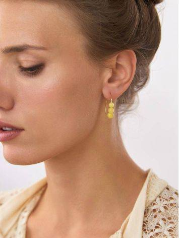 Boho Style Gilded Silver Amber Earrings The Palazzo, image , picture 3
