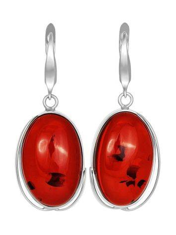 Luminous Cognac Amber Earrings The Lagoon Collection, image