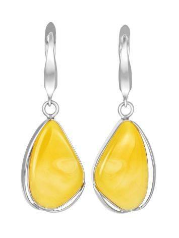 Luminous Honey Amber Dangle Earrings The Lagoon, image