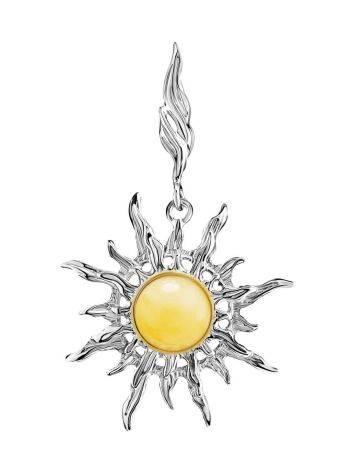 Silver Amber Sun Shaped Pendant The Helios, image