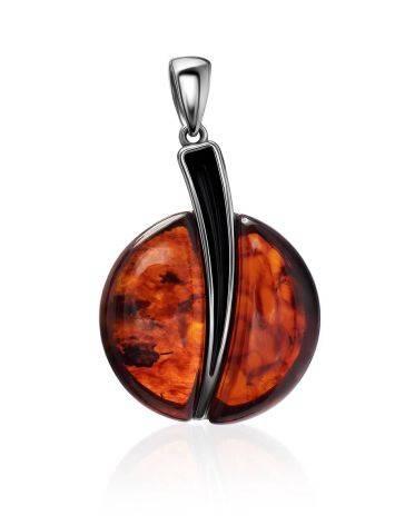 Dark Cherry Amber Round Pendant The Sunrise, image