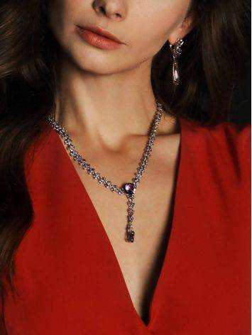 Voluptuous Silver Amethyst Necklace, image , picture 5