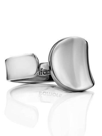 Minimalist Silver Adjustable Ring The Liquid, Ring Size: Adjustable, image , picture 2
