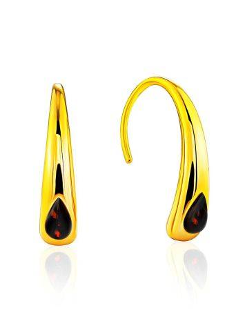 Futuristic Design Gilded Silver Amber Earrings The Palazzo, image