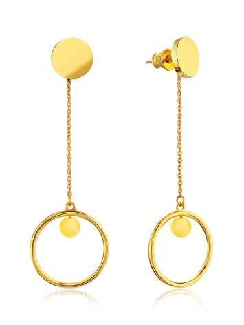 Ultra Feminine Gilded Silver Amber Dangle Earrings The Palazzo, image