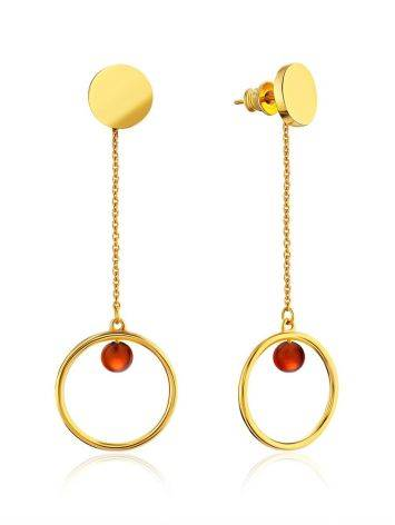 Geometric Design Gilded Silver Chain Drop Earrings The Palazzo, image