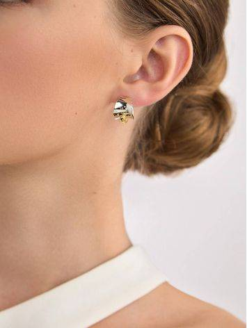Sterling Silver Amber Stud Earrings The Palazzo, image , picture 4