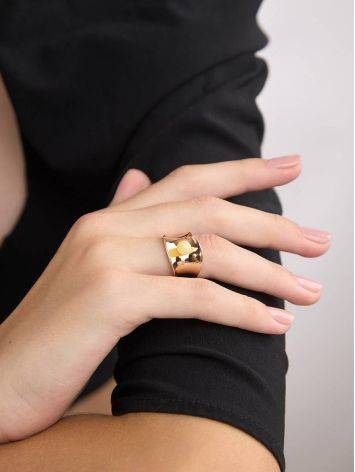 Rose Plated Silver Amber Ring The Palazzo, Ring Size: Adjustable, image , picture 5