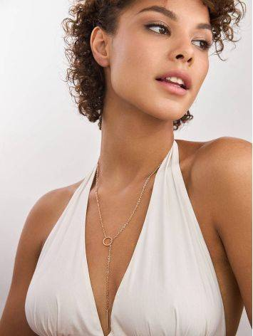 Rose Gold Plated Silver Tie Necklace The ICONIC, image , picture 4