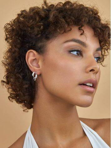Stylish Silver Chain Earrings The ICONIC, image , picture 3