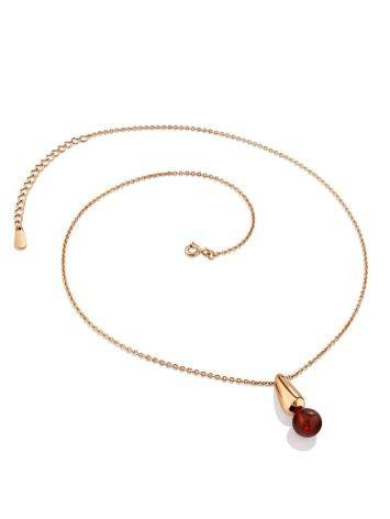 Chic Rose Gold Plated Amber Necklace The Palazzo, image , picture 3