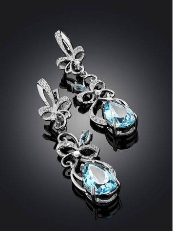 Refined Silver Topaz Drop Earrings, image , picture 2
