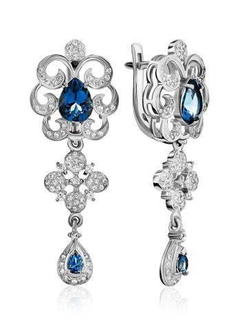 Gorgeous Silver Topaz Drop Earrings, image