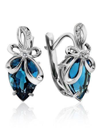 Elegant Silver Topaz Earrings, image