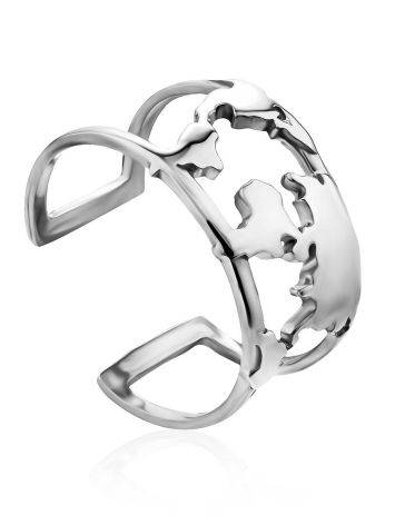Trendy Silver Ring, Ring Size: 8 / 18, image