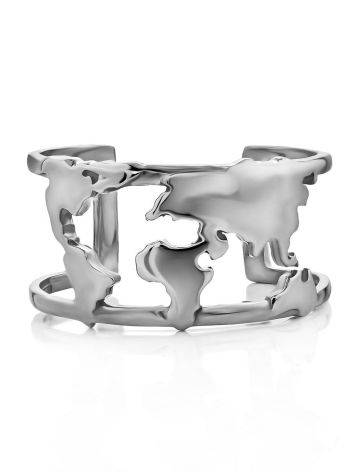 Trendy Silver Ring, Ring Size: 8 / 18, image , picture 3