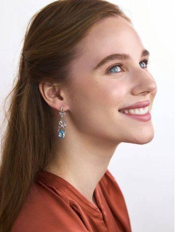 Refined Silver Topaz Drop Earrings, image , picture 3