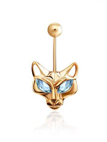 Catlike Design Gilded Silver Topaz Belly Button Ring, image