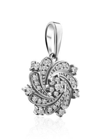 Shimmering Silver Crystal Pendant, image , picture 4