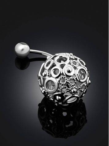 Bubble Motif Sterling Silver Navel Piercing, image , picture 2