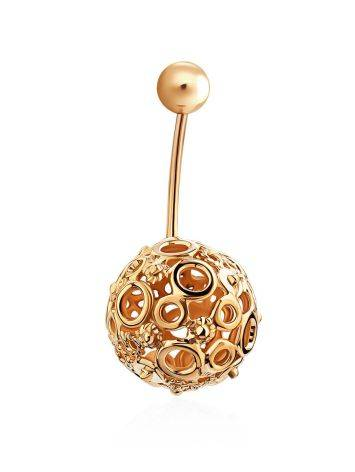Bubble Motif Gilded Silver Navel Piercing, image