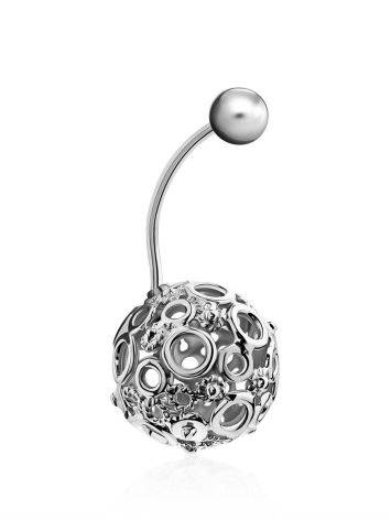 Bubble Motif Sterling Silver Navel Piercing, image , picture 3