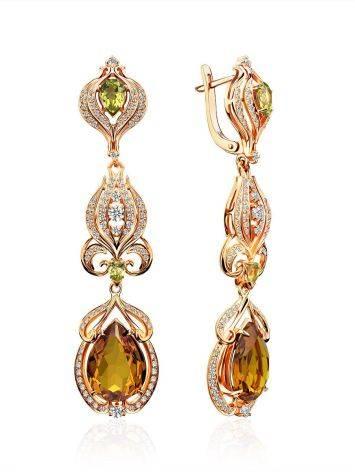 Fabulous Gilded Silver Zultanite Drop Earrings, image