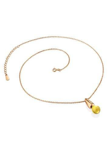 Bright Rose Gold Plated Amber Pendant Necklace The Palazzo, image , picture 3