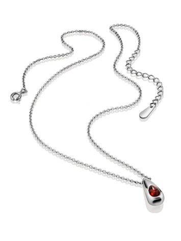 Stylish Silver Amber Pendant Necklace The Palazzo, image , picture 3