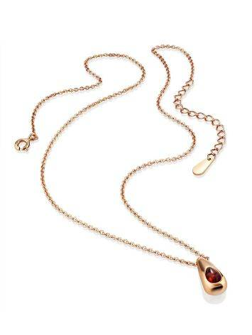 Chic Rose Gold Amber Pendant Necklace The Palazzo, image , picture 3