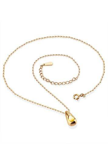 Simplistic Design Rose Gold Plated Amber Necklace The Palazzo, image , picture 3