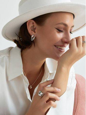 Stylish Silver Chain Earrings The ICONIC, image , picture 4