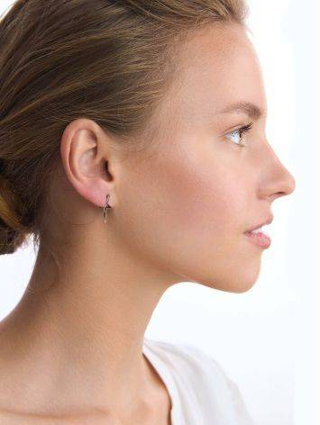 Silver Star Shaped Stud Earrings, image , picture 3