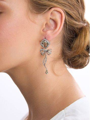 Chic Green Amethyst Dangle Earrings, image , picture 3