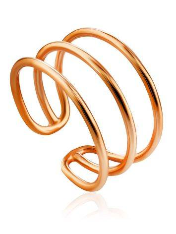 Triple Band Silver Ring The ICONIC, Ring Size: Adjustable, image
