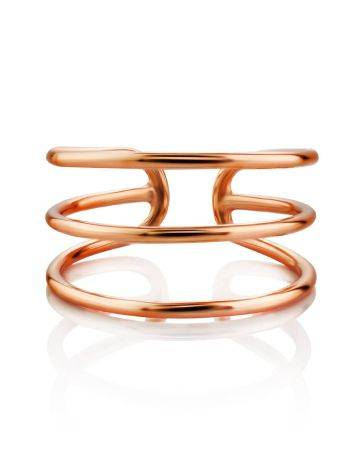 Triple Band Silver Ring The ICONIC, Ring Size: Adjustable, image , picture 3