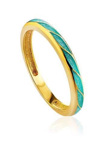 Trendy Ultra Slender Enamel Ring, Ring Size: 7 / 17.5, image