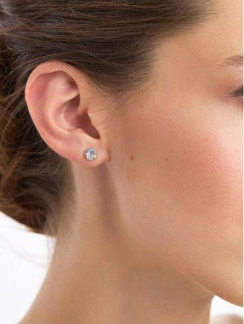 Chameleon Color Conical Crystal Stud Earrings, image , picture 3