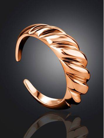 Rose Gold Plated Silver Adjustable Ring The Liquid, Ring Size: Adjustable, image , picture 2