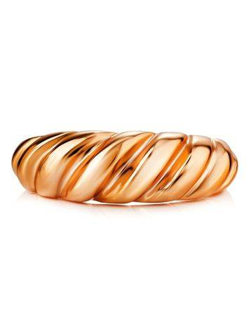 Rose Gold Plated Silver Adjustable Ring The Liquid, Ring Size: Adjustable, image , picture 3