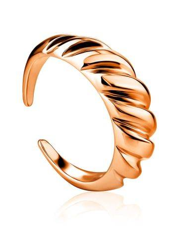 Rose Gold Plated Silver Adjustable Ring The Liquid, Ring Size: Adjustable, image