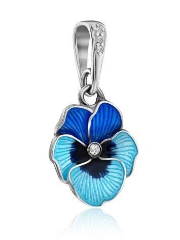 Cute Blue Enamel Floral Pendant, image , picture 4