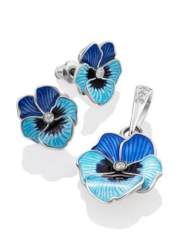 Cute Blue Enamel Floral Pendant, image , picture 5
