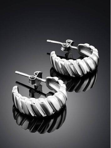 Retro Vibe Silver Mini Hoop Earrings The ICONIC, image , picture 2