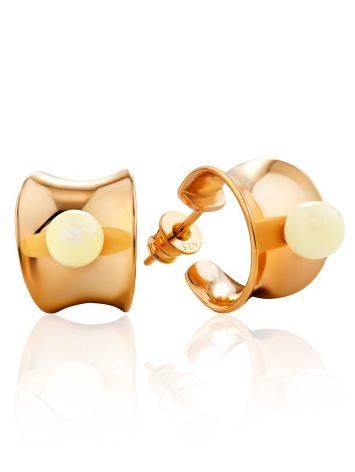 Rose Gold Silver Stud Hoop Earrings The Palazzo, image