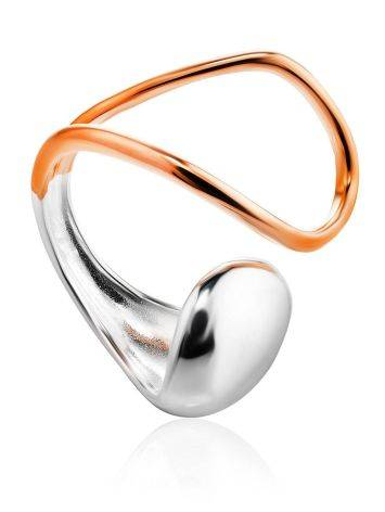 Designer Mix Color Silver Ring The Liquid, Ring Size: Adjustable, image