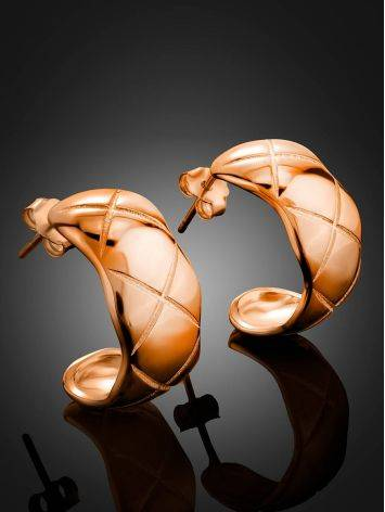 Harlequin Motif Rose Gold Plated Silver Earrings The ICONIC, image , picture 2