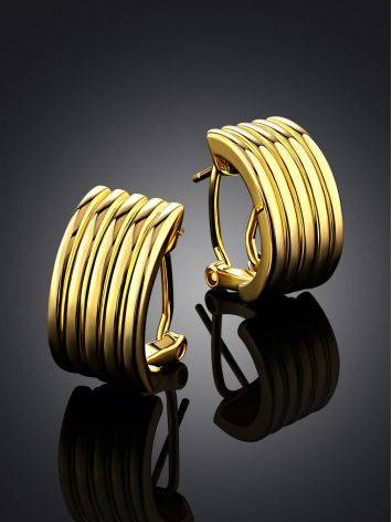 Chunky Gilded Silver Half Hoop Earrings The ICONIC, image , picture 2