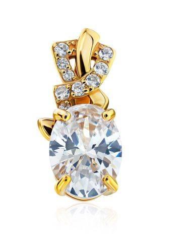 Shimmering Gilded Silver Crystal Pendant, image