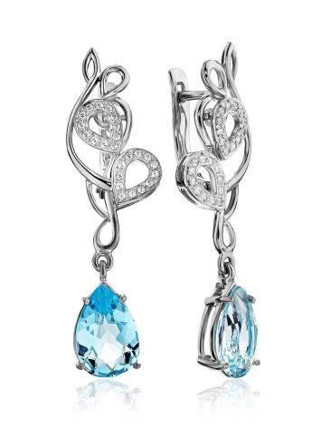 Stunning Silver Topaz Drop Earrings, image